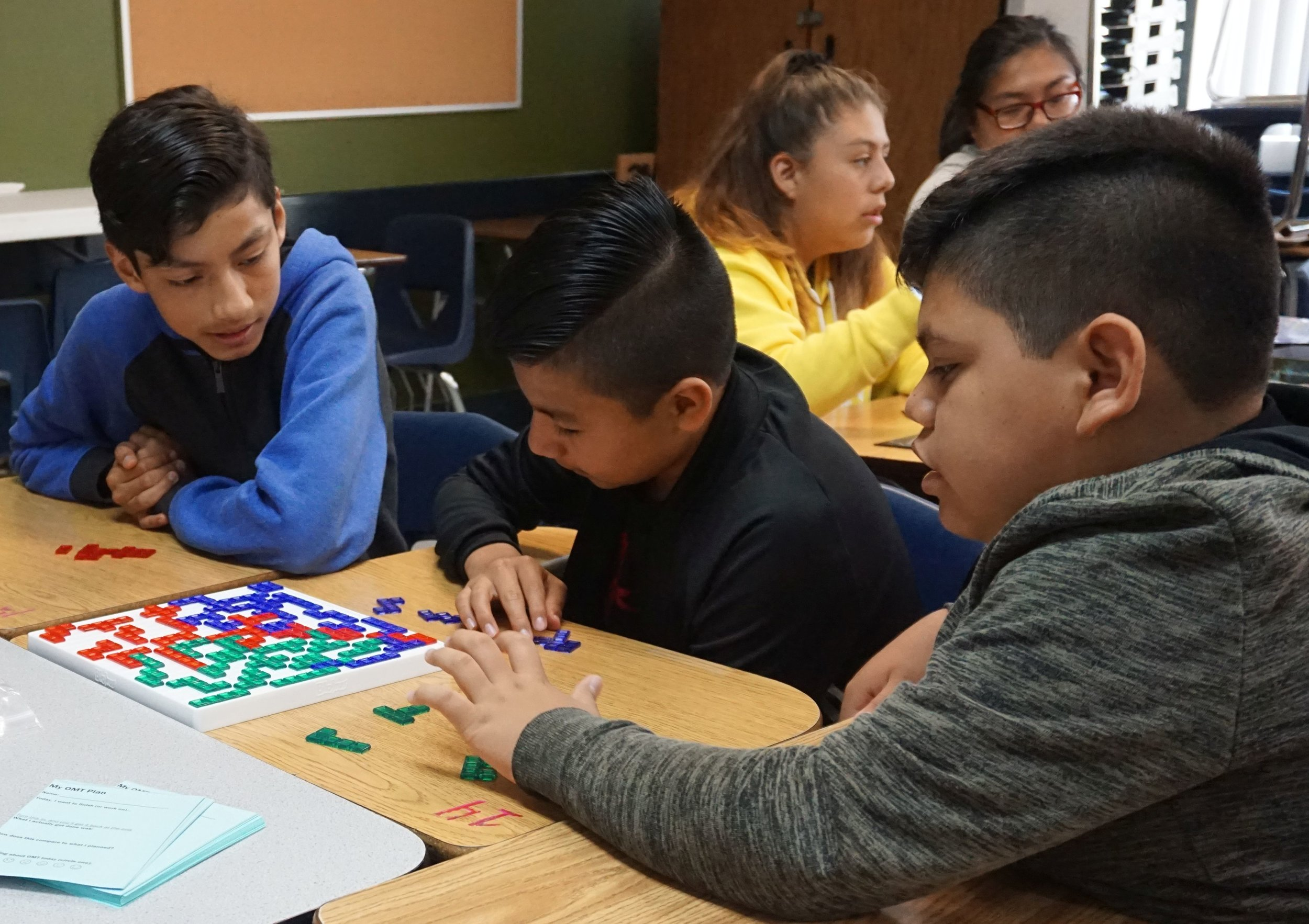 Students Learn Blokus