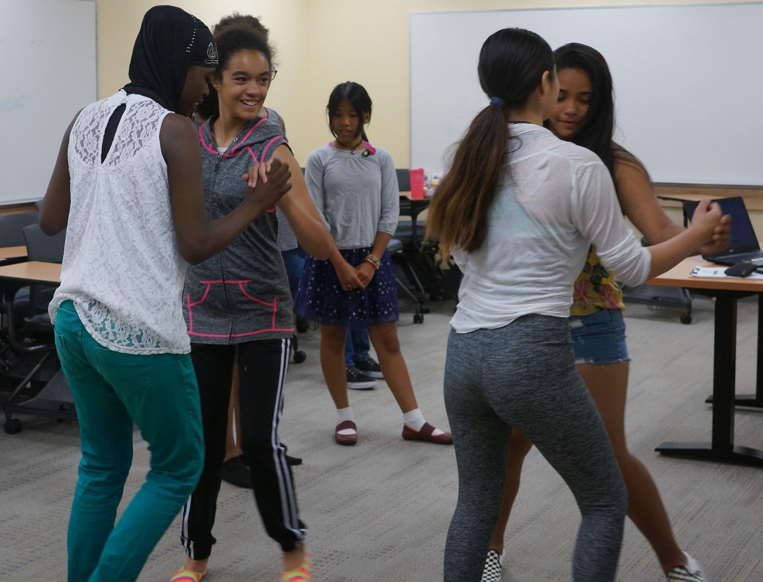 Learning Latin dance