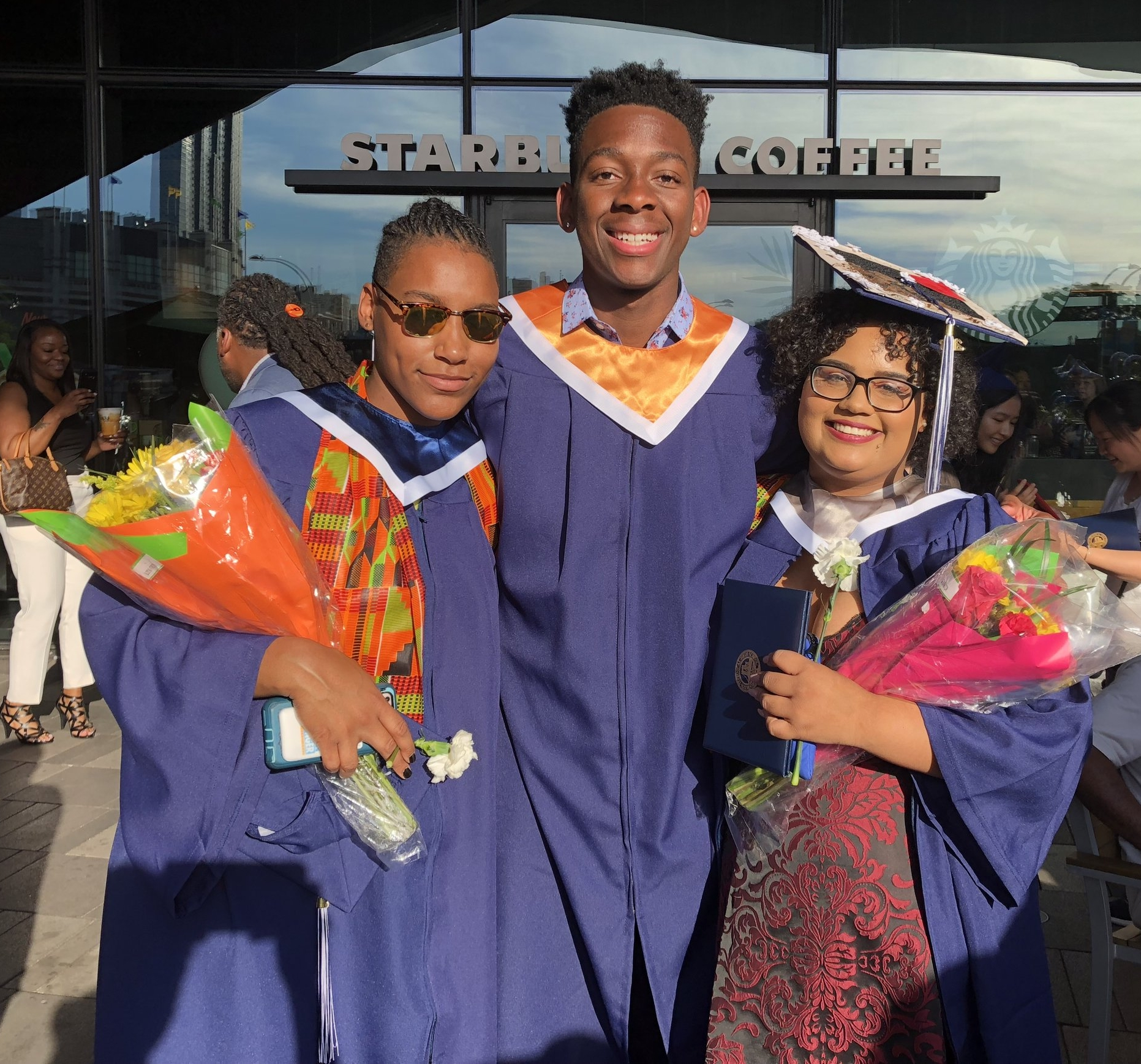 Vielka, Malachi, and Crisleidy at their graduation from Brooklyn Tech. Vielka and Crisleidy spent summer 2018 working for BEAM as Junior Counselors at BEAM 6 NYC.