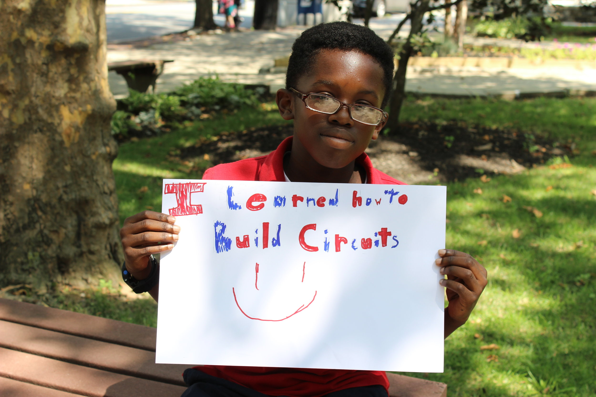 Nate, 6th grade: I learned how to build circuits. :)
