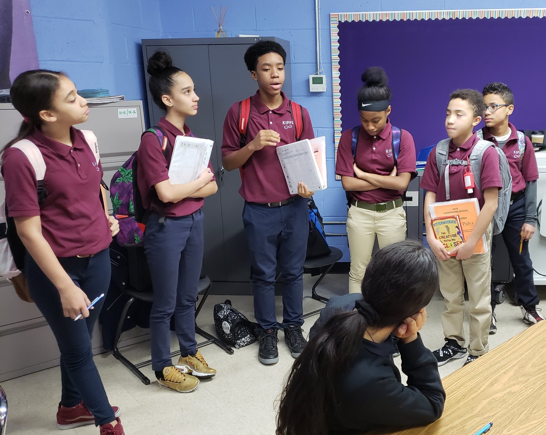 7th graders at another BEAM partner school, KIPP Infinity, tell their 6th grade colleagues about BEAM Discovery.