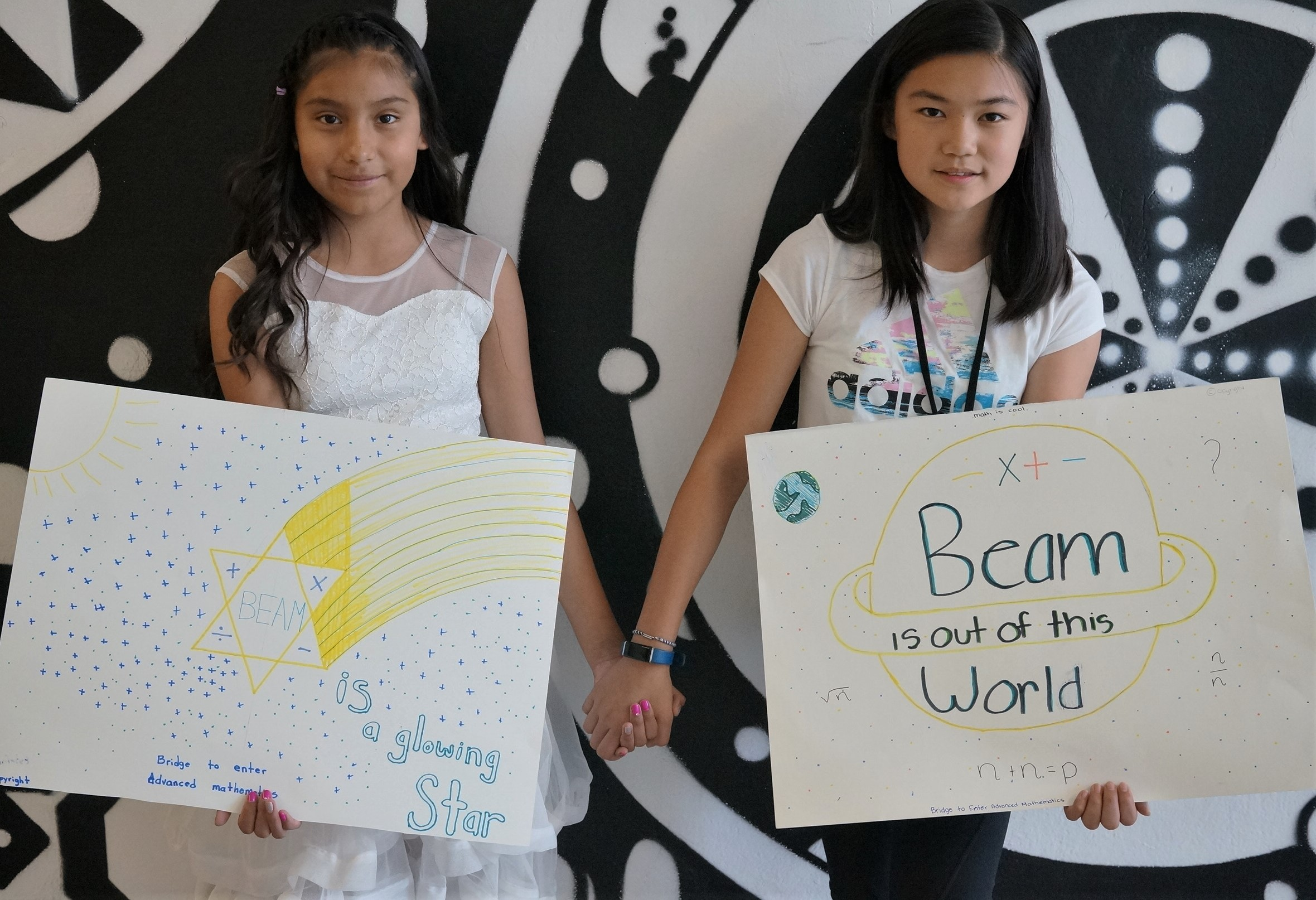 """BEAM is a glowing star."" (left) —Estefani, BEAM Discovery  ""BEAM is out of this world."" (right) —Allison, BEAM Discovery"