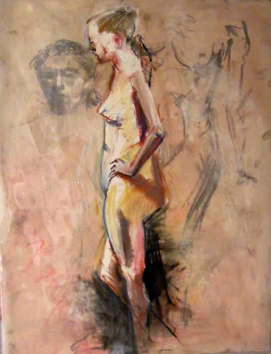 Figure (2012), acrylic and pastel