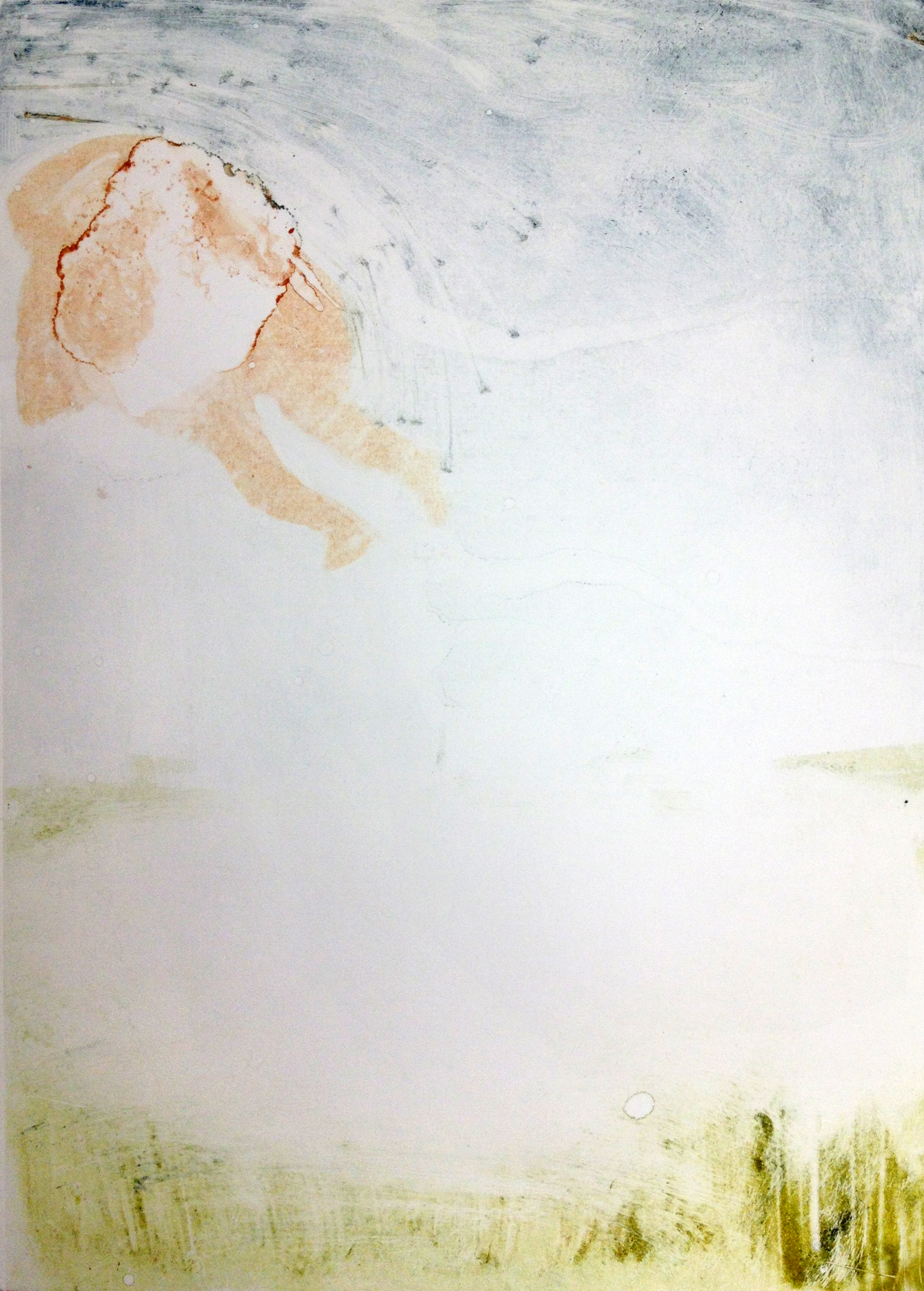 An Astronaut Visits The Earth, 2013, monotype