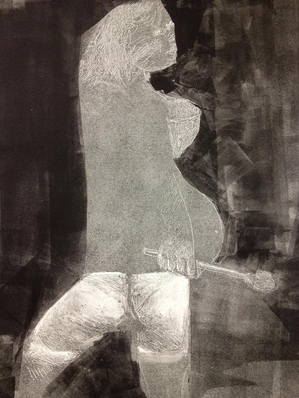 Untitled, 2013, monotype