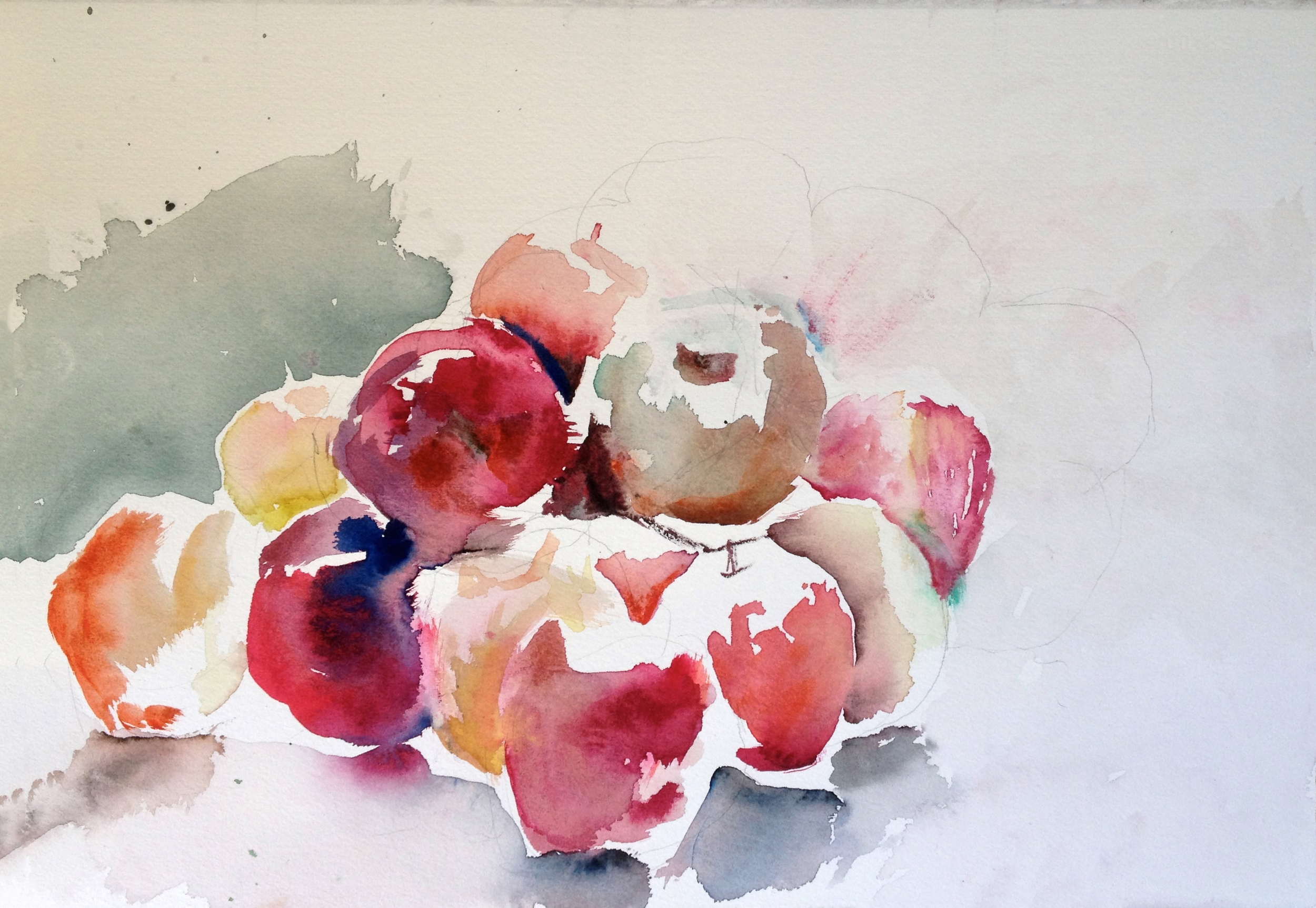 Apples (2014), watercolor