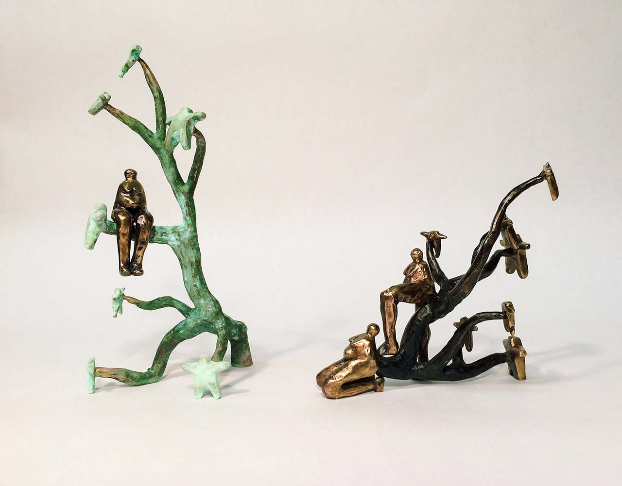 Family Tree (Maternal & Paternal), 2017, cast bronze and patina