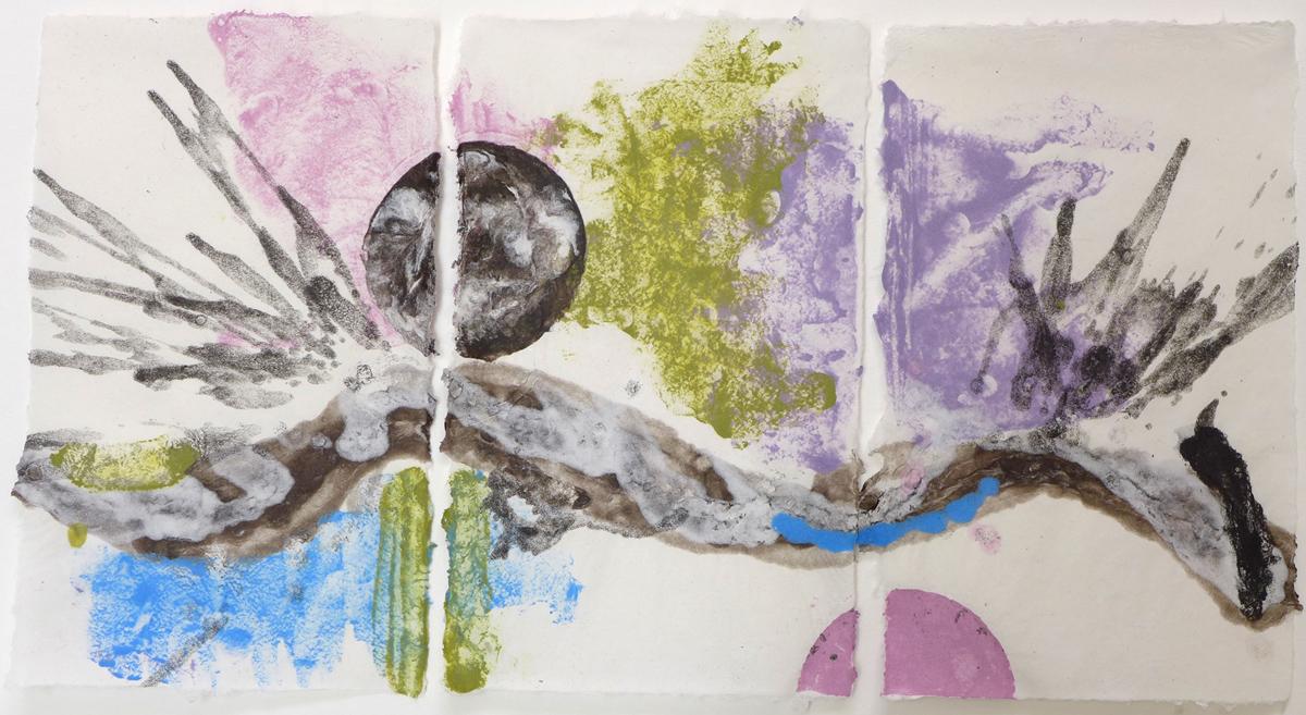 pulp painting, Lea Ratzmann, Spring 2014