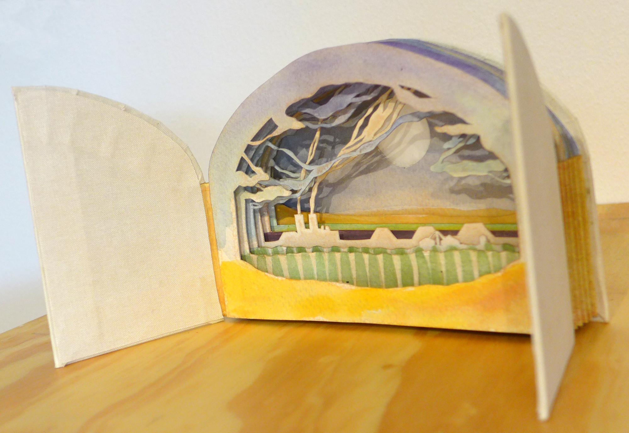 Tunnel book, Liz Kozik, Spring 2015