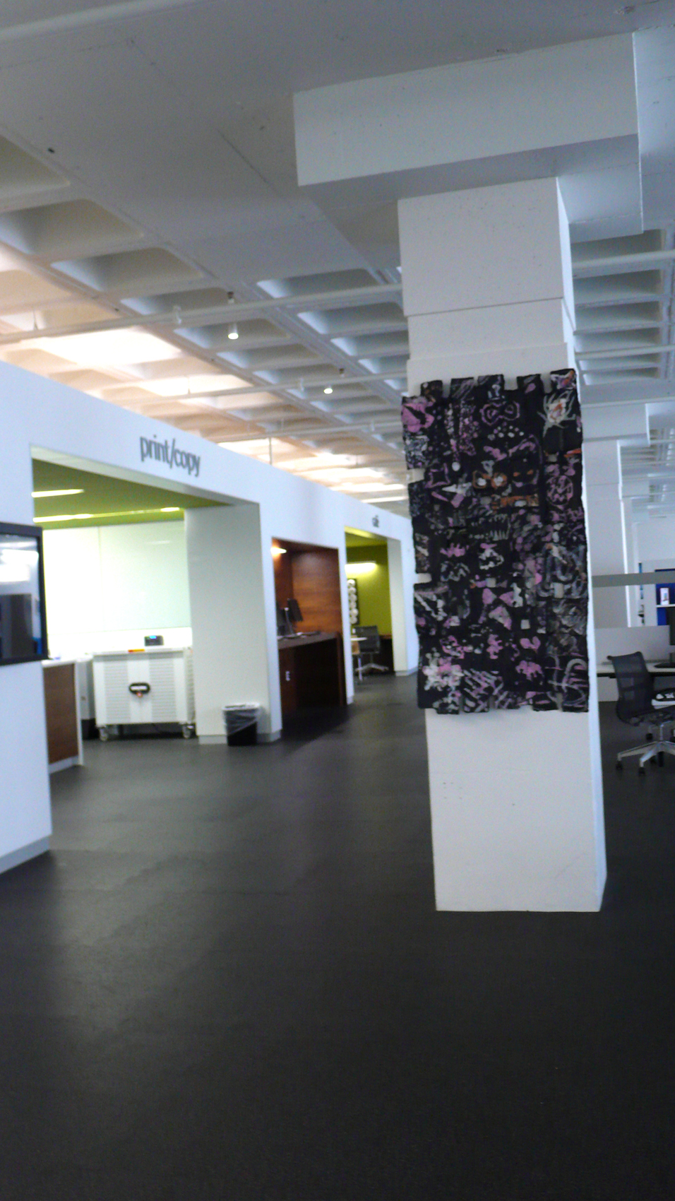 Community Shingle Wall on the 1st floor of the Library