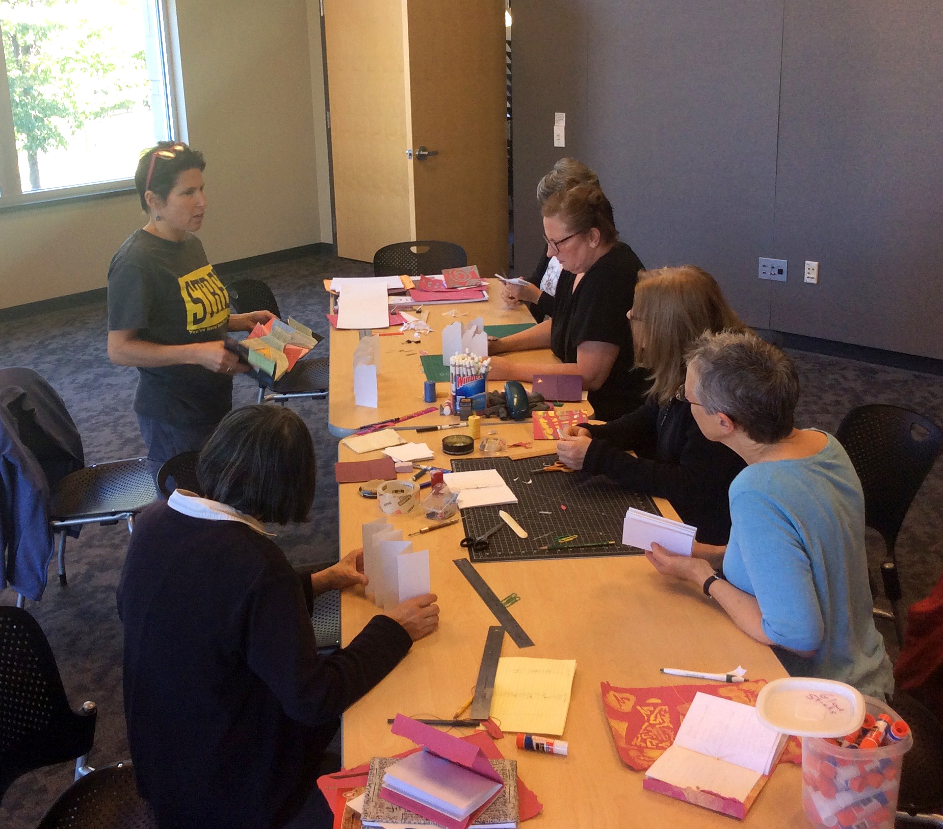 Bookmaking workshop, Sequoya Library