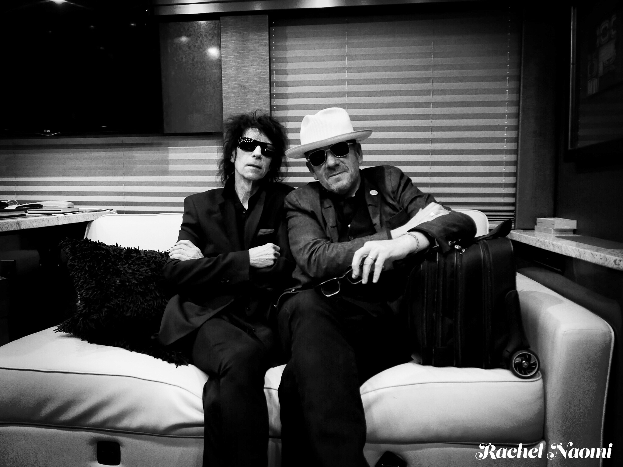 Elvis and Peter Wolf B&W