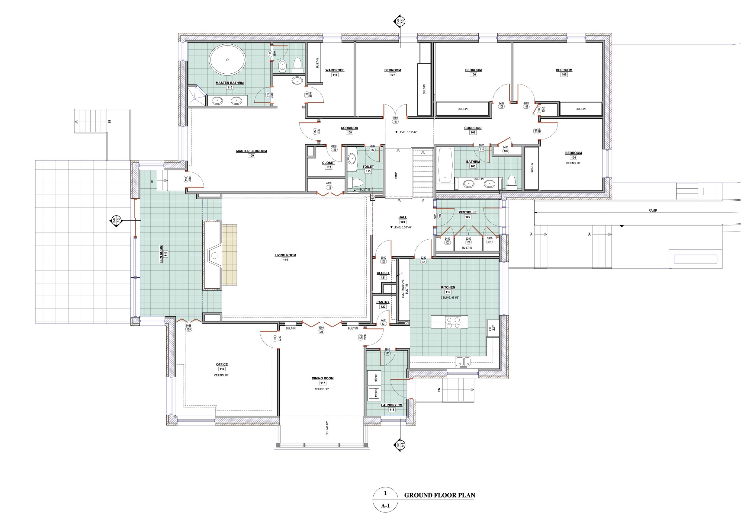 Bungalow Alteration Remodel Ground And Second Floor Addition Hampstead Qc Peterson Architects