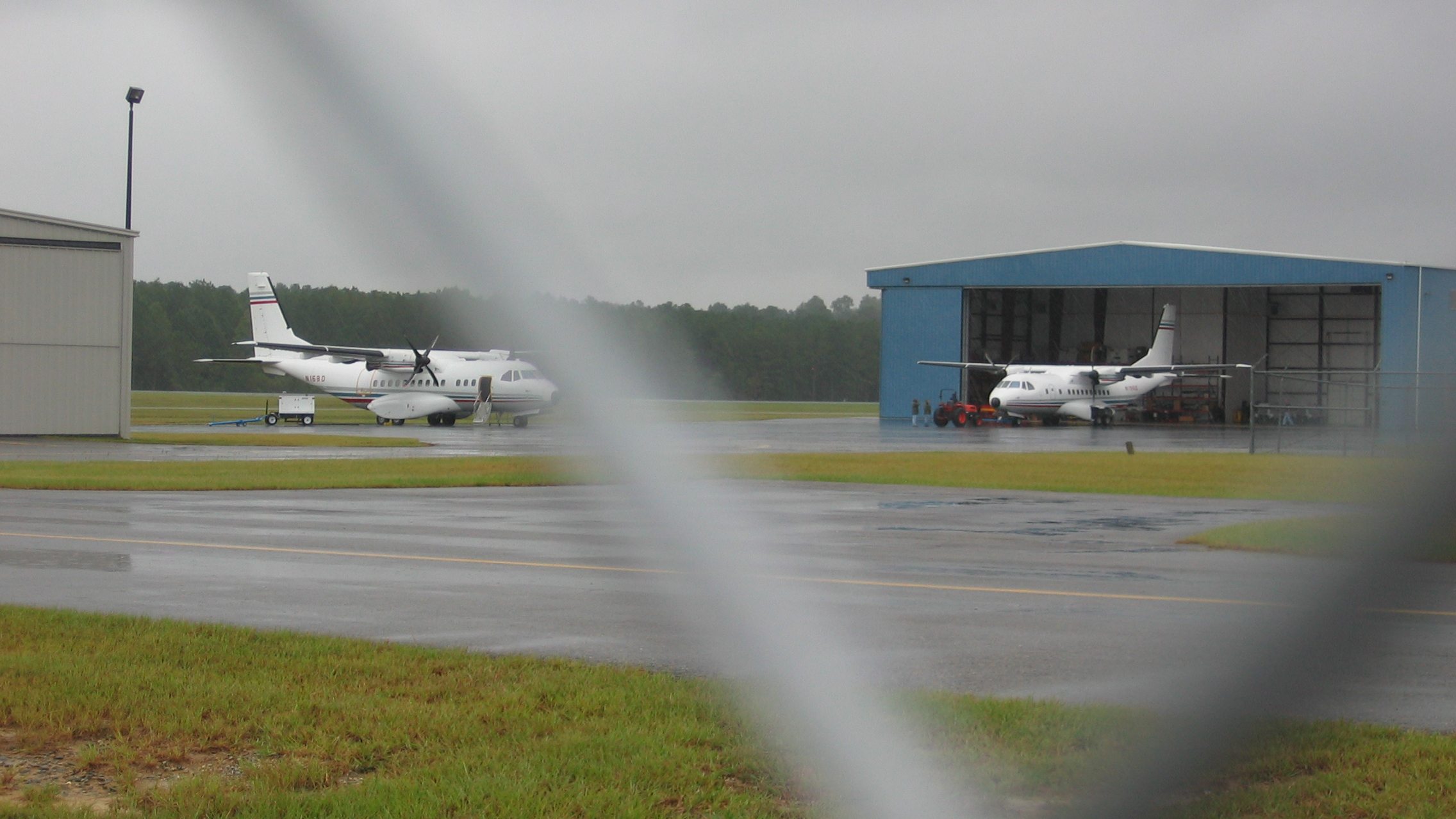 n168d and n196d, photographed at the johnston county airport on September 7th, 2007