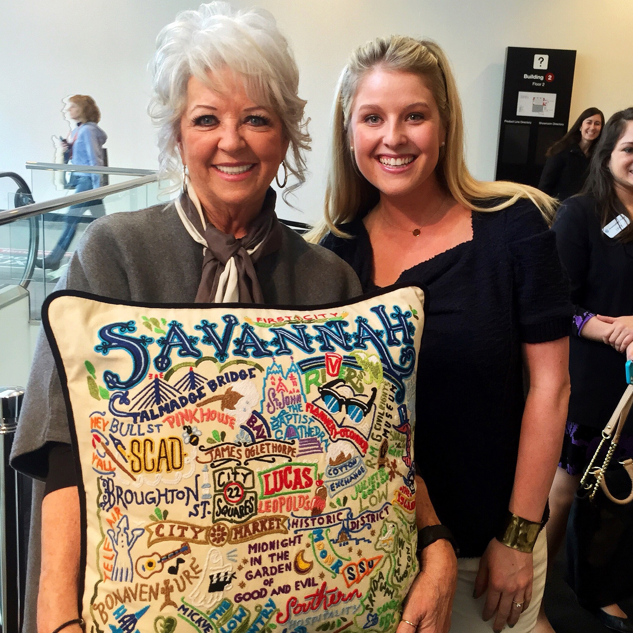 with Paula Deen - at Atlanta Gift Show