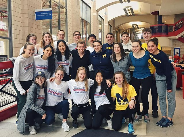 University of Michigan Triathletes at Dayton Indoor Triathlon last weekend! #triathlon #usattriathlon