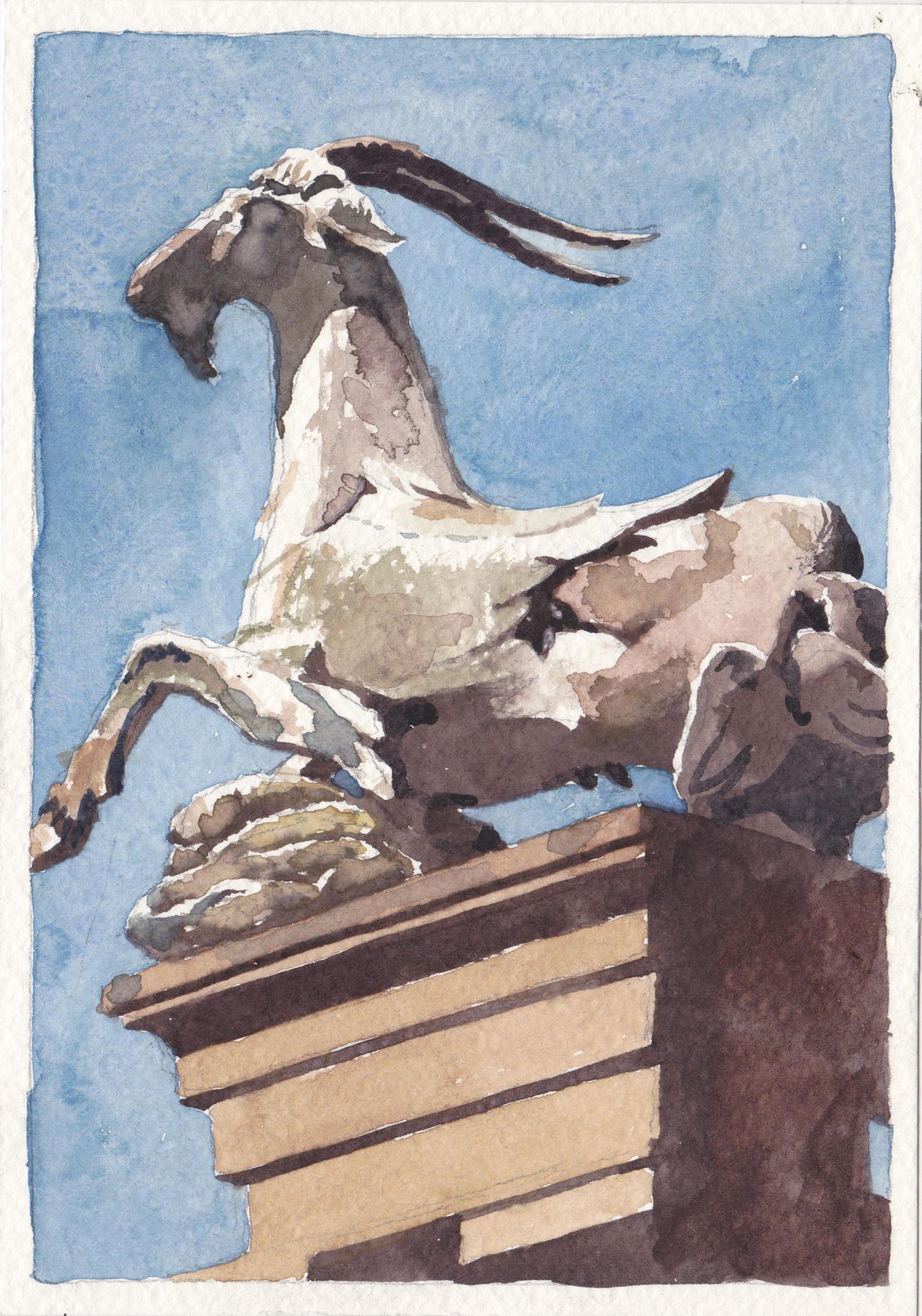 Goat Statue at Boboli Gardens