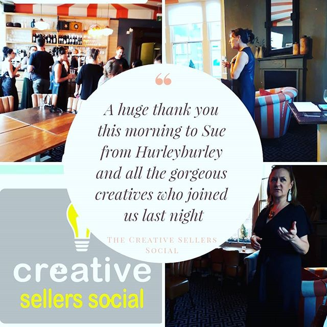 Feeling the love this morning! A HUGE thank you is going out to the gorgeous and ridiculously talented @suebuckland Co founder of @hurleyburleyjewellery for being our first ever guest speaker, I know everyone thoroughly enjoyed your openness and generosity of the brilliant advice!  You're going to be a hard act to follow 😘  Massive thanks going out to the fabulous and talented @kimwilliamsphotography who was busy snapping away all night and giving out invaluable photography advice! If you need any product photography for your company then please look her up you won't be disappointed!  Most importantly we want to thank each and every brilliant company that made it and sad to have missed those who were unable to make it with the train issues.  Your enthusiasm and interaction really made it a fantastic night and pleasure to host, you made the evening.  Lastly my thanks and love go the gorgeous Saundra from @wearesos15 for being as always a brilliant partner in crime and collaboration queen! Team work makes the dream work as they say and already looking forward to plotting the next #creativesellerssocial with the glitter queen!  If you weren't able to make last night then we hope to see you at the next event!
