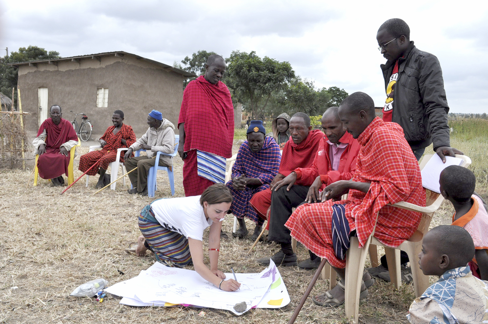 Visually recording stories about life and livestock of Maasai men in Tanzania, Africa.