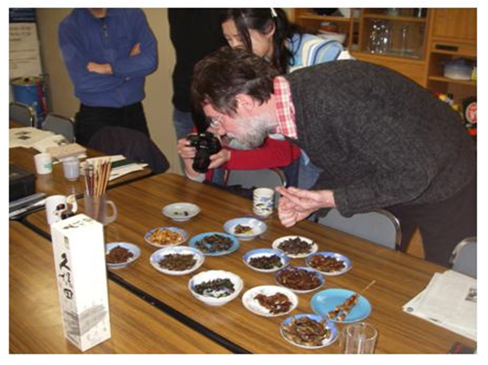 Tasting edible insects in Japan