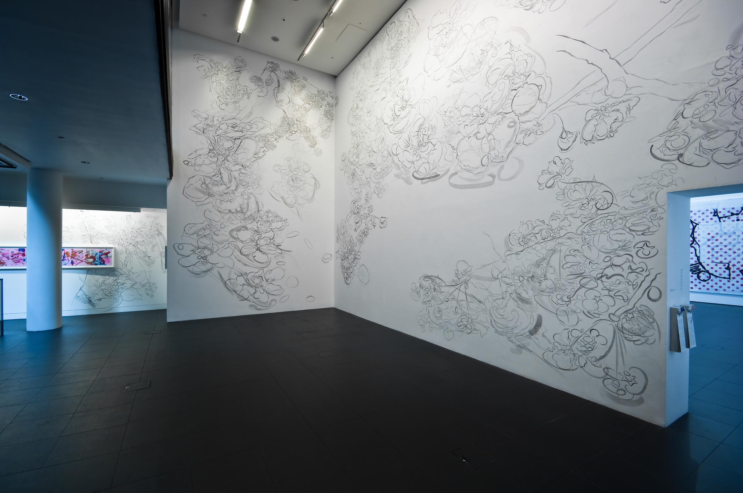 Expulsion from Paradise, 2009, 23' x 43', acrylic on wall.