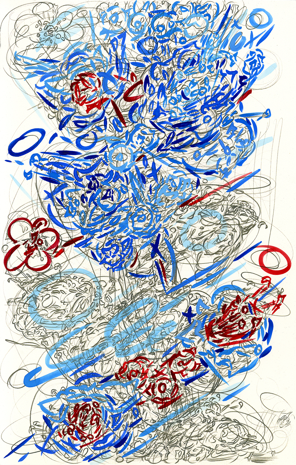 """Significant Transport Color #1 , 2016, pencil and gouache on paper, 17"""" x 11"""""""