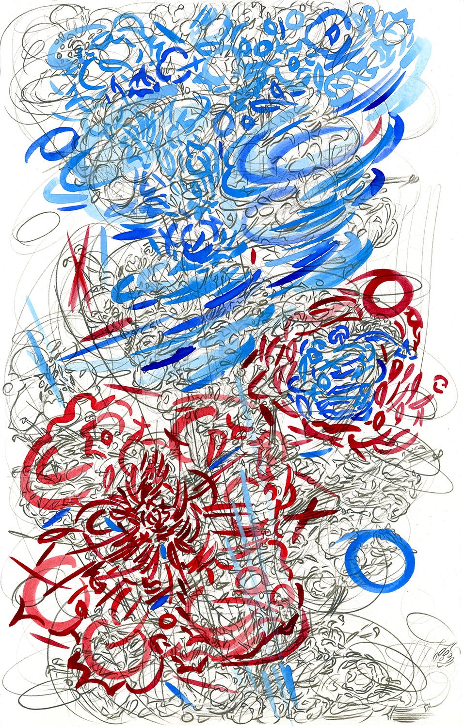"""Significant Transport Color #5 , 2016, pencil and gouache on paper, 17"""" x 11"""""""