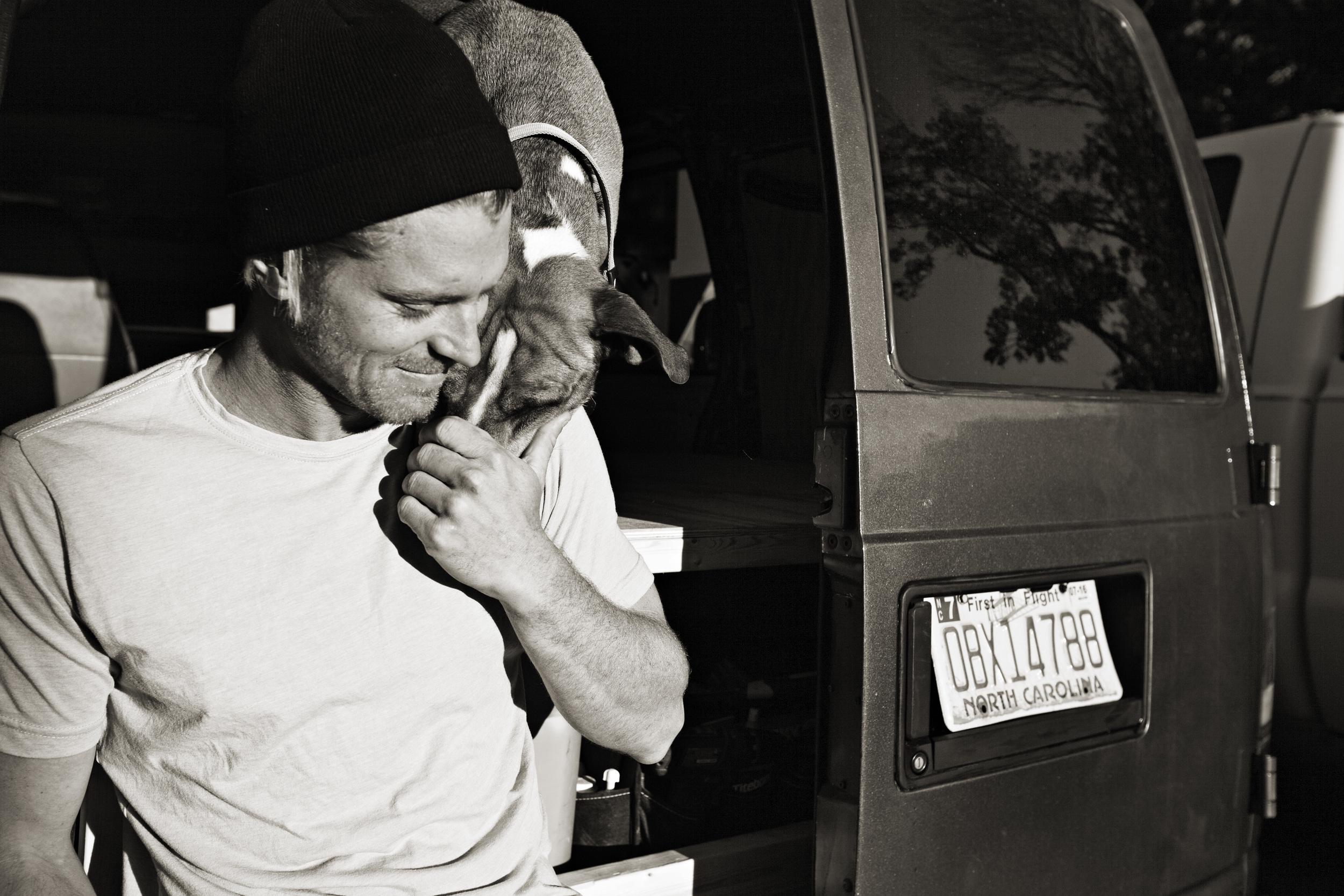 Dana, his buddy Stitch, and the van