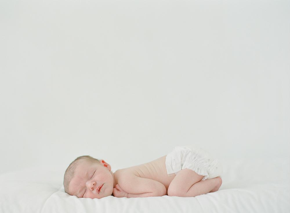 Sandra Coan, newborn photography shot on film, Seattle WA