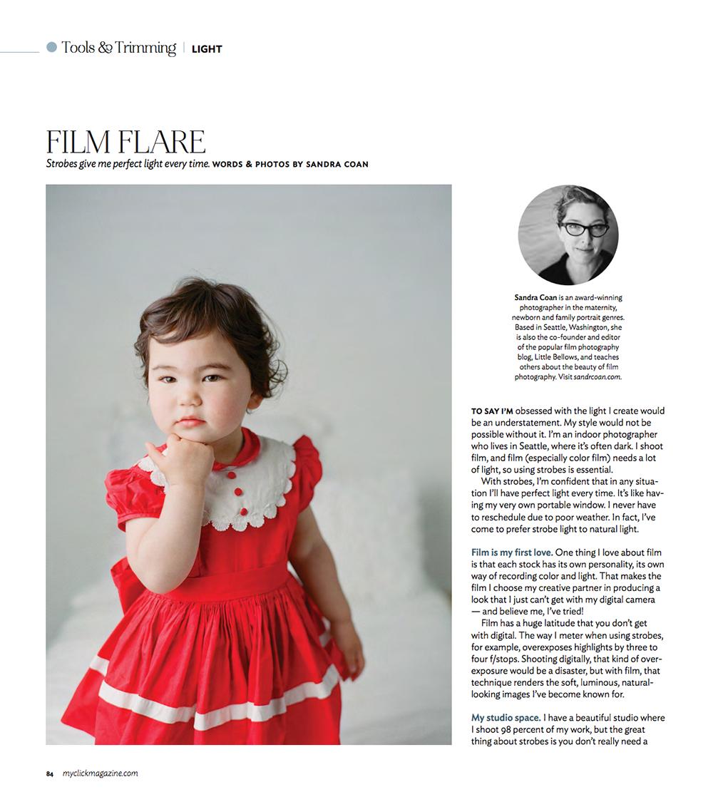 Click Magazine, featuring Sandra Coan March/April 2016