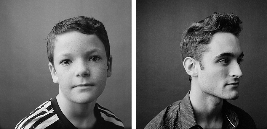 Seattle family photographer, Sandra Coan.  Studio Photography shot on film.