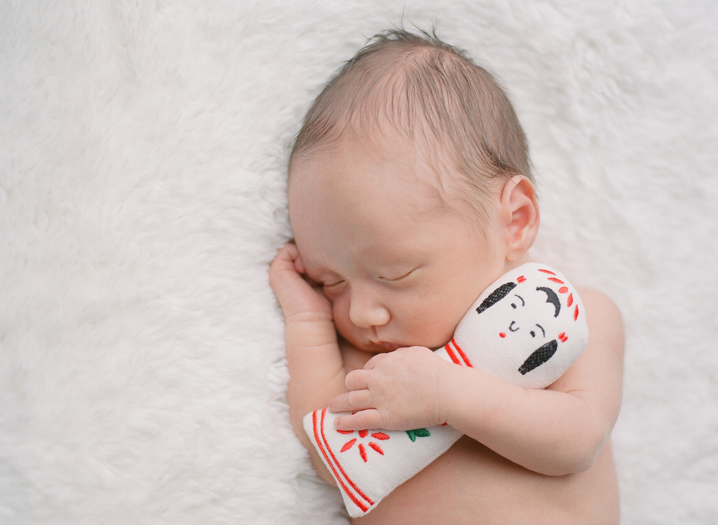 sandra coan seattle newborn baby photography japanese props, toys, and dolls