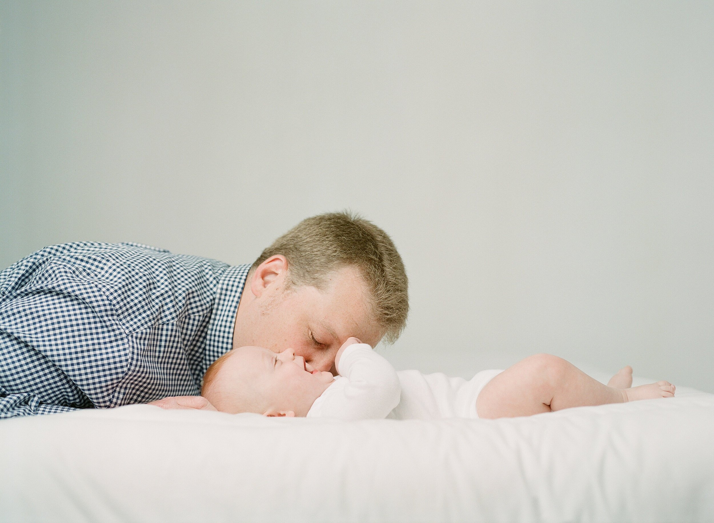 Newborn photographer Seattle | Sandra Coan | fathers and babies on film father's day