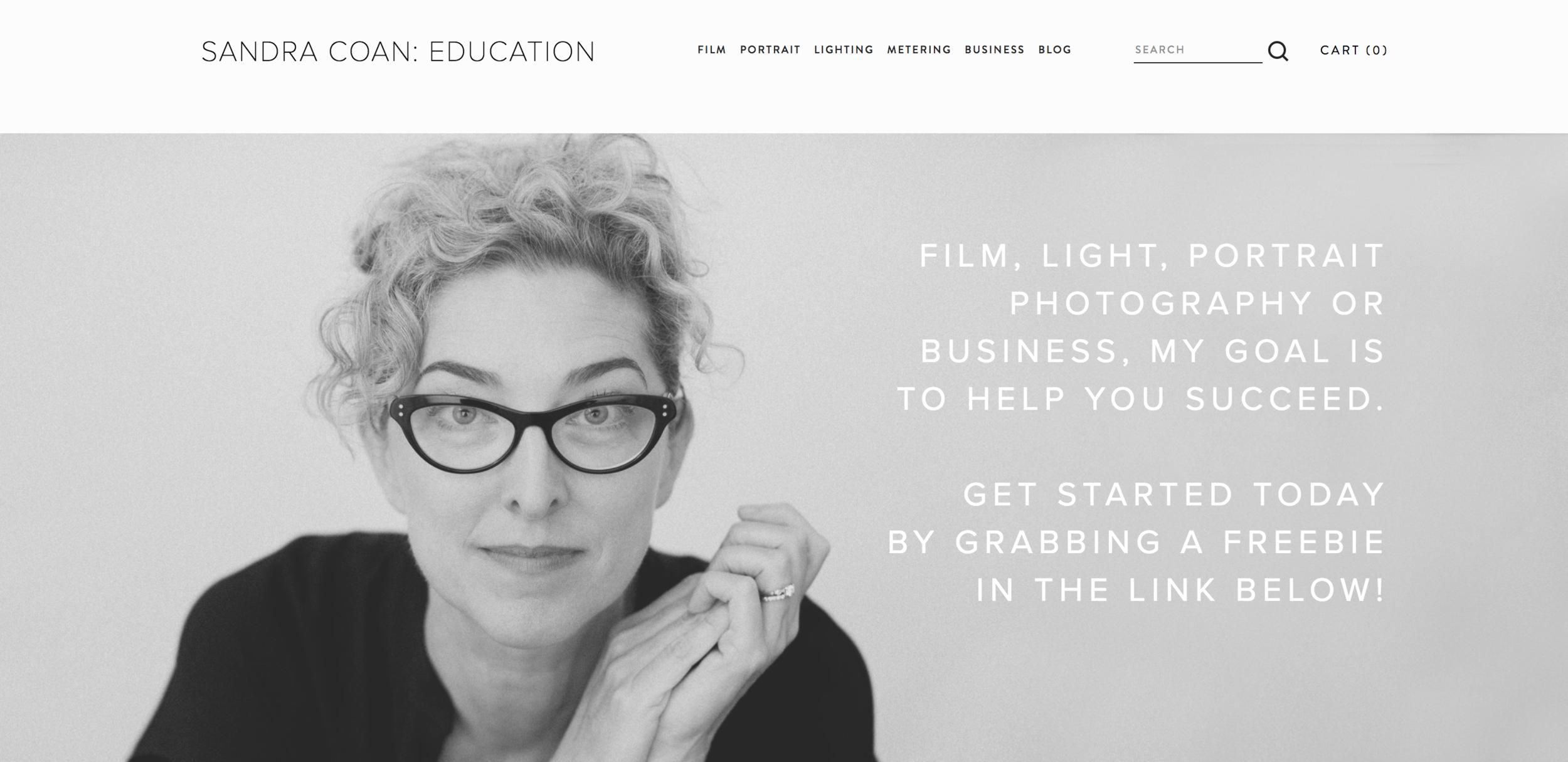 Sandra Coan education for film photographers