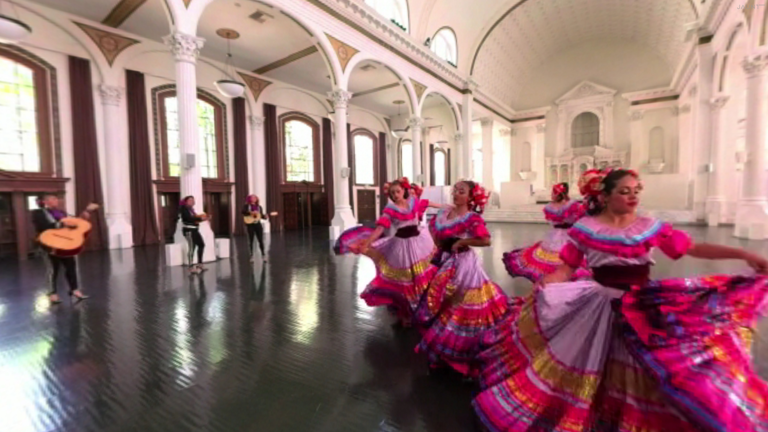 """""""Fuerza Imprevista"""" is a Jaunt VR piece for  Cinco de Mayo  I helped produce in collaboration with VR Playhouse, featuring the Latin Grammy award-winners (and my longtime friends)Mariachi Flor de Toloache. My fiancée Catherine Day directed and EPed through Jaunt.Download the full VR experience here:  https://www.jauntvr.com/title/49b325c60e CO- PRODUCER"""