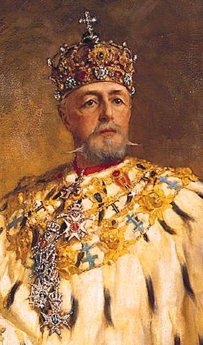 Так выглядел Оскар II в государственной короне. Источник: 7*