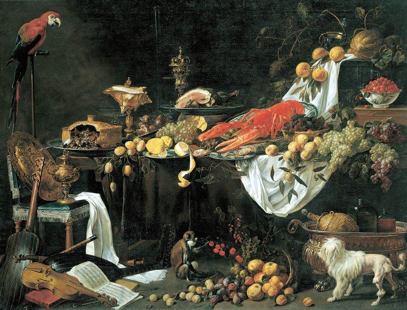 Натюрморт Адриана ван Утрехтра, оригинал находится в коллекции Национального музеяНидерландов. Источник: 1*