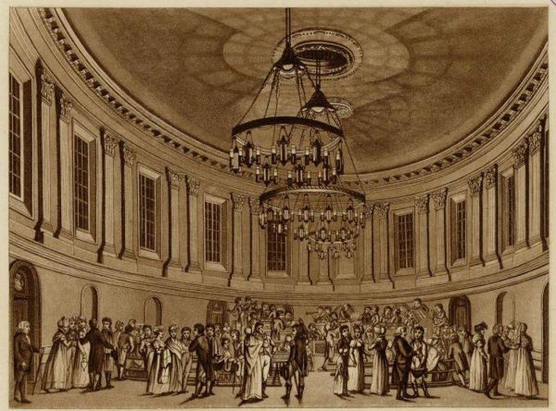 Вот приблизительно так выглядели концерты в Овальном зале. Источник:3*