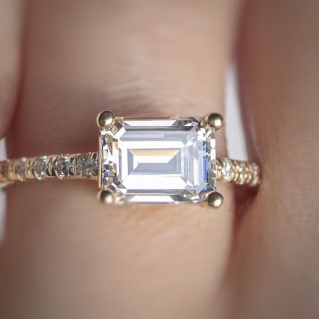 Emerald cut diamond💎