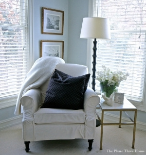 Restyled master bedroom sitting area