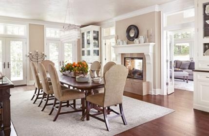 traditional home before & after- Dining Room