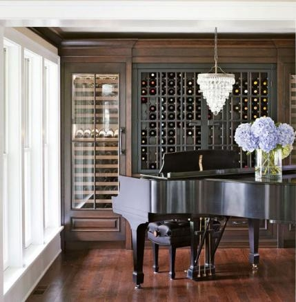 traditional home before & after- music room