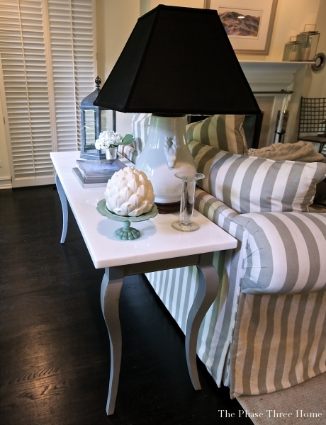 reviving an outdated sofa table--After