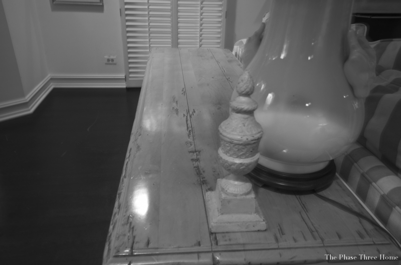 reviving an outdated sofa table--Before
