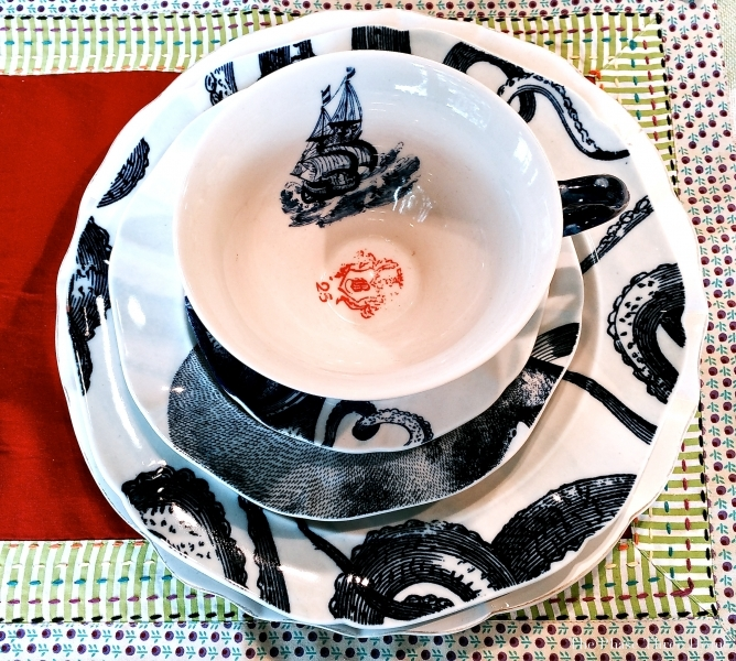 Anthropology's nautical inspired dinnerware