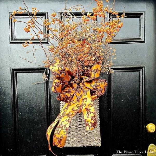 Fall front door basket