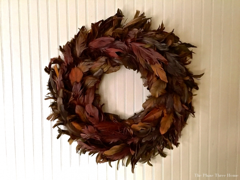 fall feather wreath