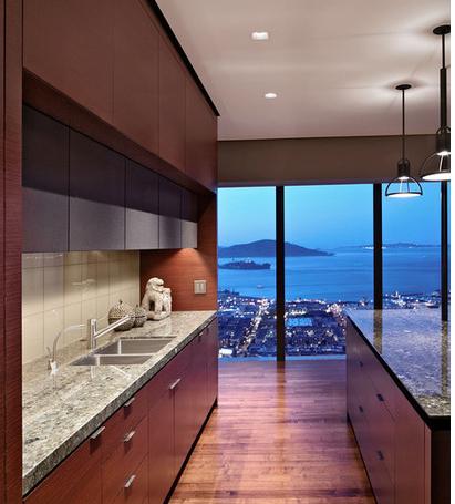 Houzz empty nester hi-rise, Russian Hill-kitchen