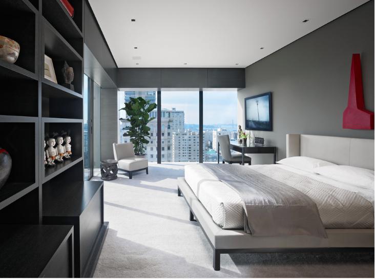 Houzz empty nester hi-rise, Russian Hill-bedroom