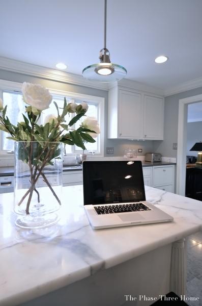 210 norwich after- Kitchen, island w laptop
